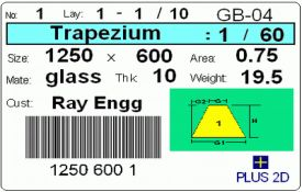 Nesting Software - PLUS 2D Metal : Bar Coded Labels