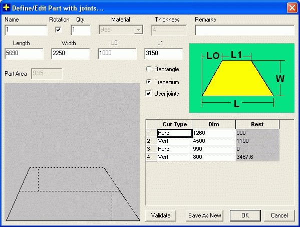 Joint or Splicing Norms in Large Parts : Edit Large Part With Joints